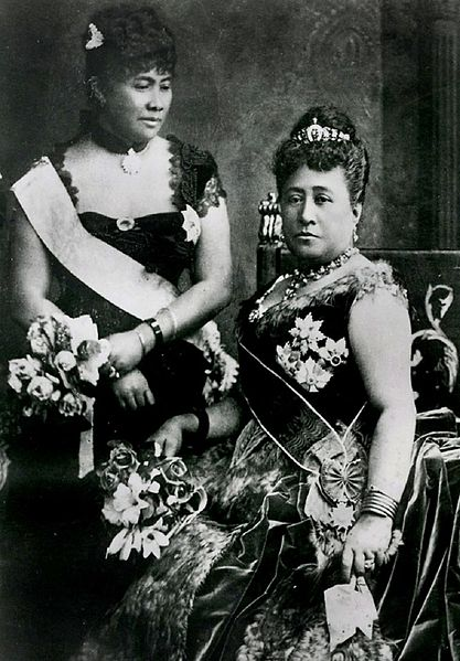 Lili'uokalani and Queen Kapiolani at Queen Victoria's Golden Jubilee.