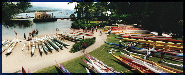 Kamakahonu Beach - Home of Kai'Opua Canoe Club